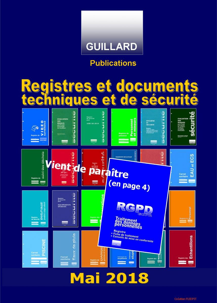 Editions GUILLARD le catalogue MAI 2018