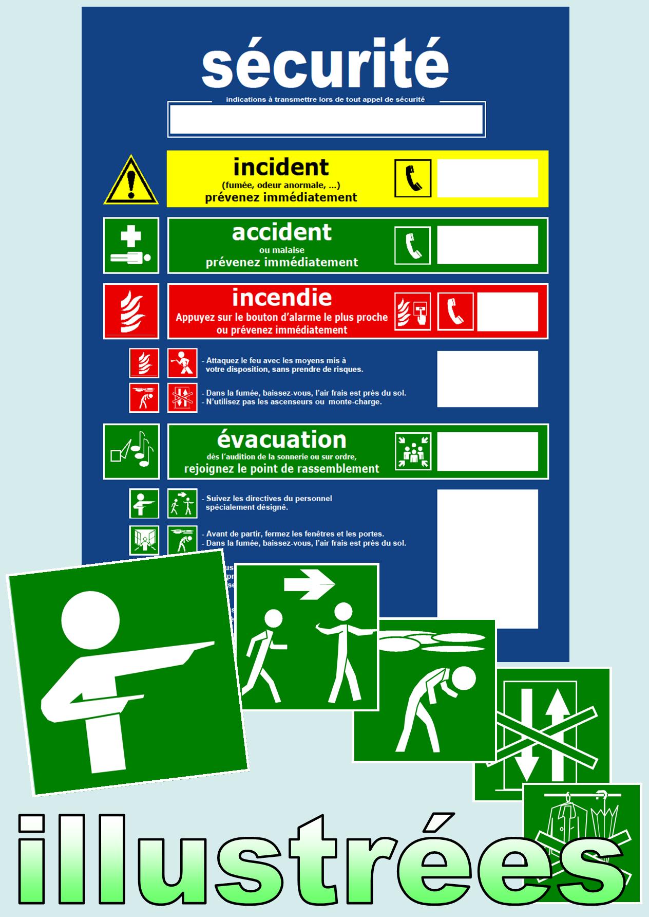 Ffiches et consignes de sécurité illustrées