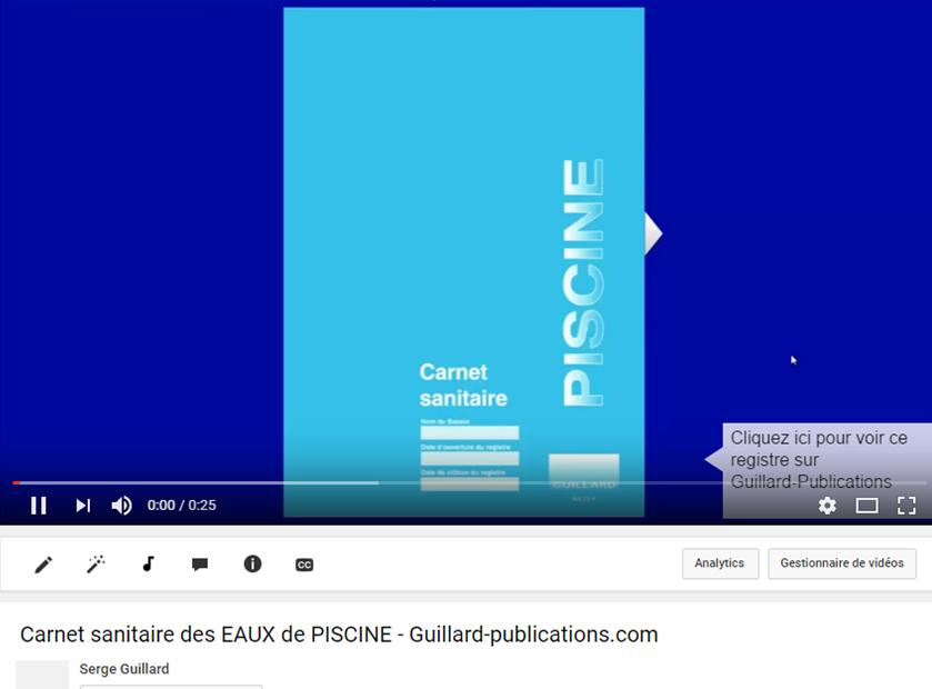 6b carnet sanitaire des eaux de piscine cs p edition for Carnet sanitaire piscine