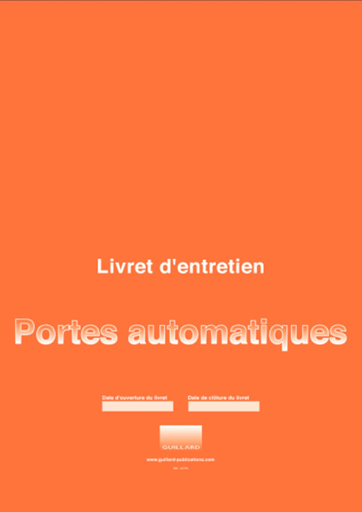 Contrat de maintenance porte automatique pdf