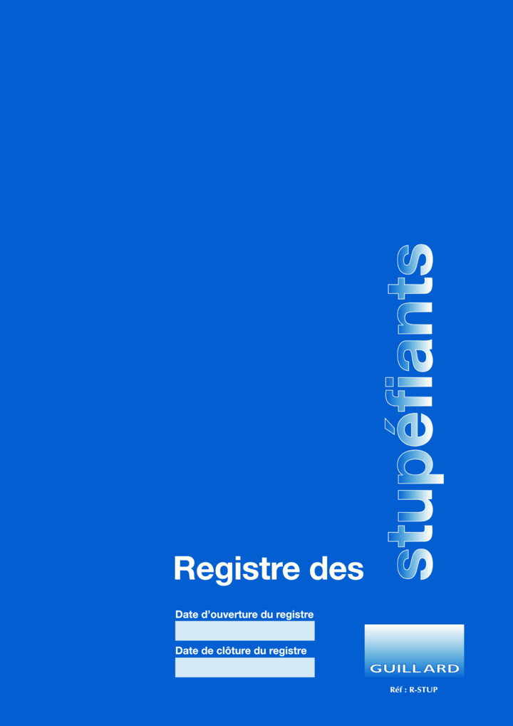 PHARMACIE Registre comptable des STUPEFIANTS - Edition GUILLARD  - R.STUP