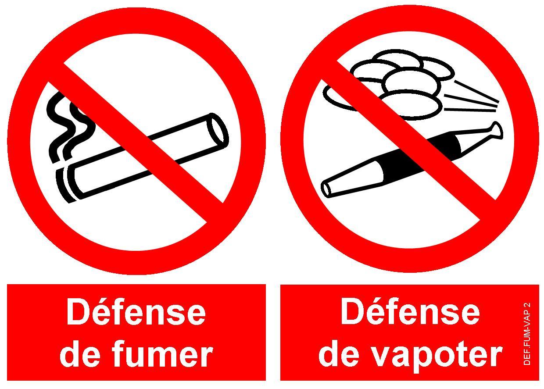 signal d 39 interdiction defense de fumer defense de vapoter. Black Bedroom Furniture Sets. Home Design Ideas