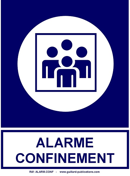 LYCEES ET COLLEGES - ZONE DE CONFINEMENT - ALARME CONFINEMENT - ALARM.CONF