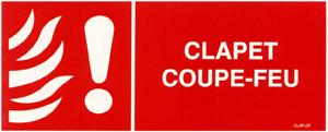 Panneau de signalisation clapet coupe feu clap feu - Installation clapet coupe feu ...