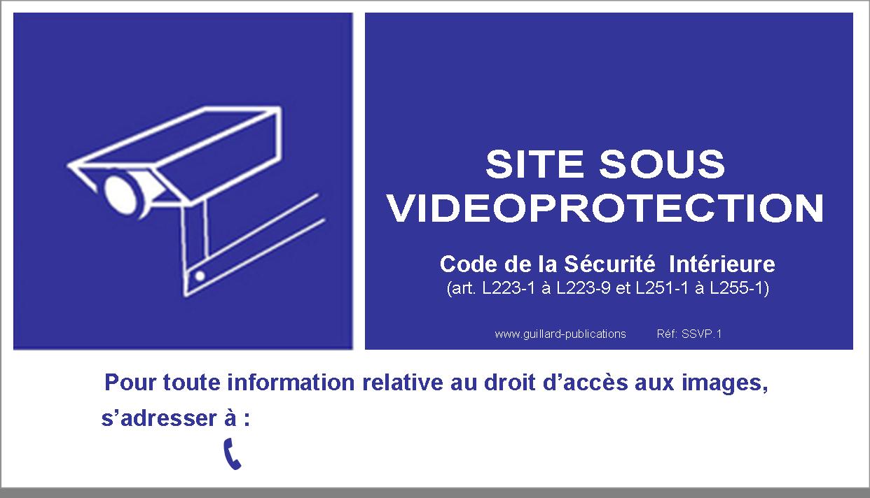 Signal Site Sous Videoprotection En Pvc Avec Dos Autocollant