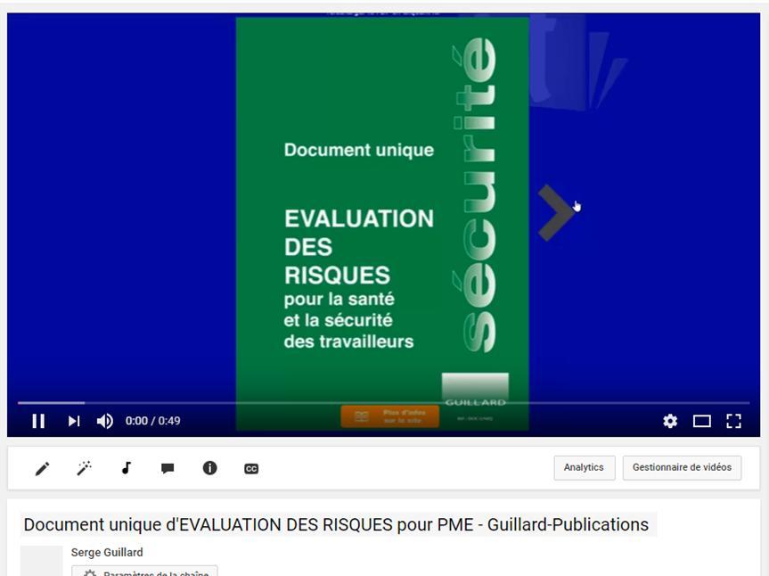 Duer Document Unique D Evaluation Des Risques Pour Tpe Pme Professions Liberales Edition Guillard