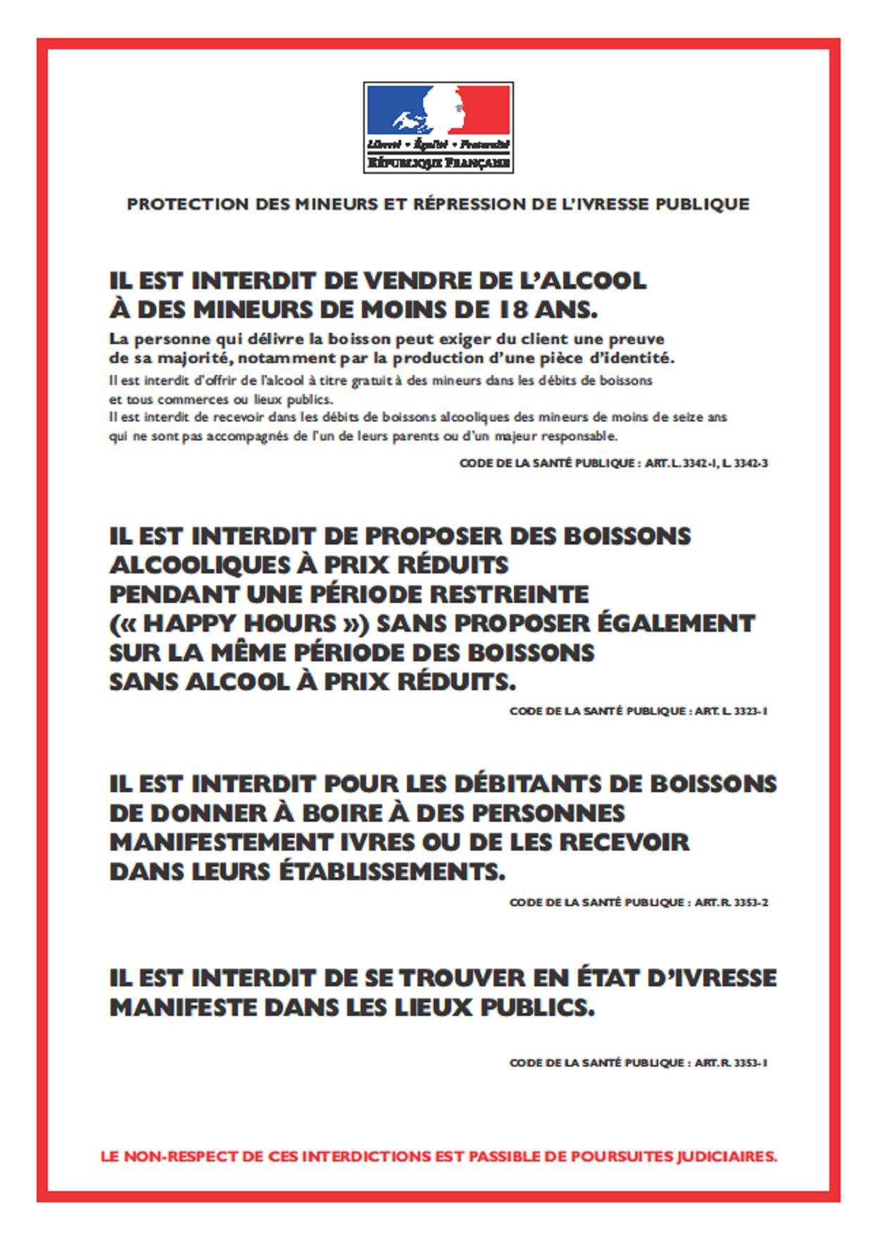 Code De La Sante Publique Caf 233 S Bars Restaurants