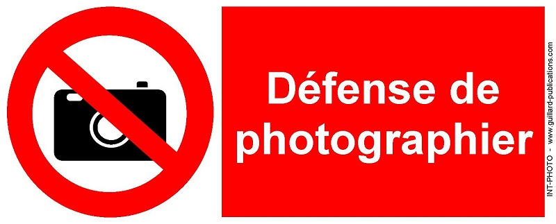 Signal d'interdiction de PHOTOGRAPHIER - INT.PHOTO