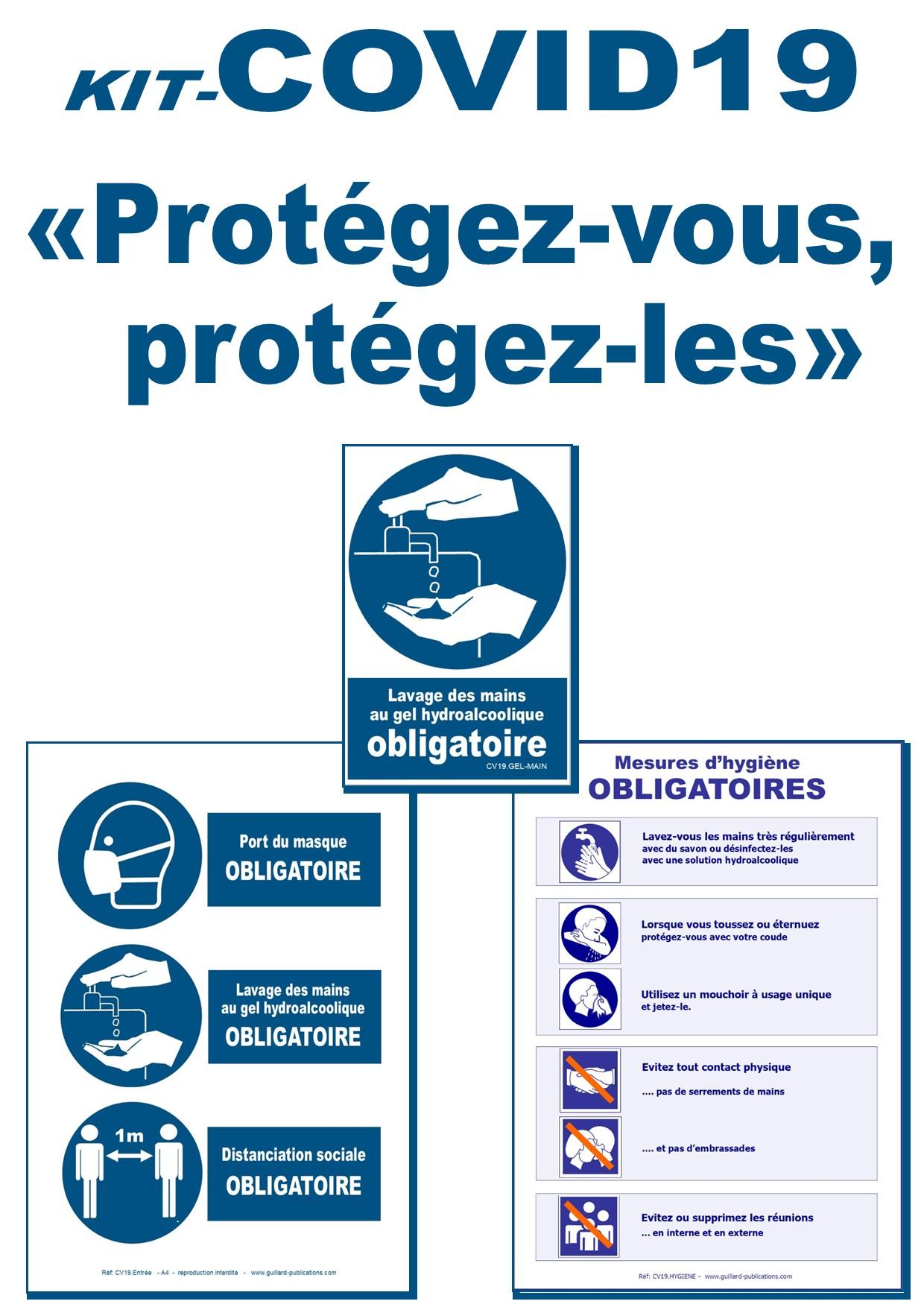 .COVID19 - Signaux d'OBLIGATION  APRES CONFINEMENT pour petits établissements - KIT.COVID19